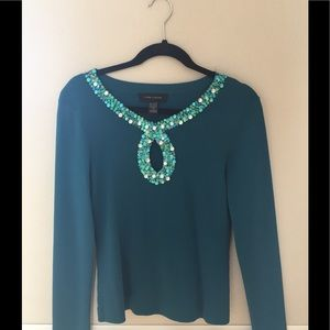 Cable and Gauge beaded fitted sweater💙